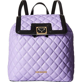 LOVE Moschino Women's Superquilted Fold-Over Purple Handbag