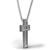 SACRED DEVOTION White Gold Crucifix