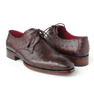 Brown Genuine Ostrich Derby Shoes - West Nineties