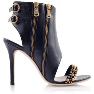 AMAZON Leather Cut-out Bootie - West Nineties