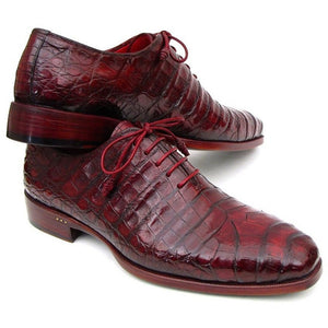 Bordeaux Genuine Crocodile Oxfords (ID#23XF55) - West Nineties