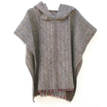 100% Alpaca Poncho in Mink - West Nineties
