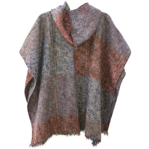 100% Alpaca Poncho in Grove - West Nineties
