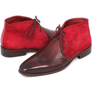 Chukka Boots Bordeaux Suede & Leather - West Nineties