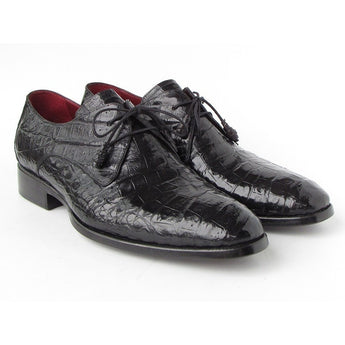 Black Genuine Crocodile Derby Shoes - West Nineties