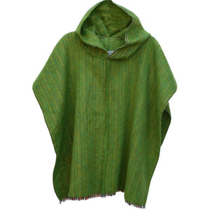 100% Alpaca Poncho in Green Apple - West Nineties