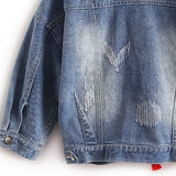WEST NINETIES Women's Butterfly Denim Jacket