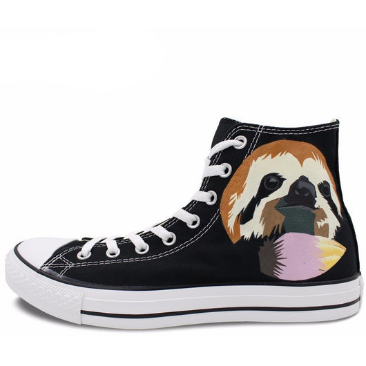 CONVERSE All Star SLOTH Hand Painted Custom - West Nineties