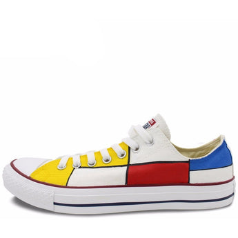 CONVERSE All Star Custom Mondrian Hand Painted Sneakers