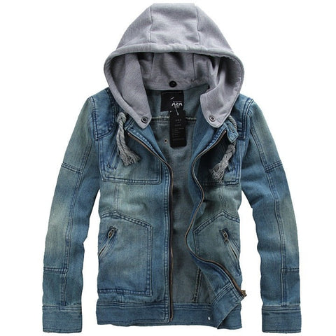 "WEST NINETIES ""COWBOY"" Hooded Denim Jacket"