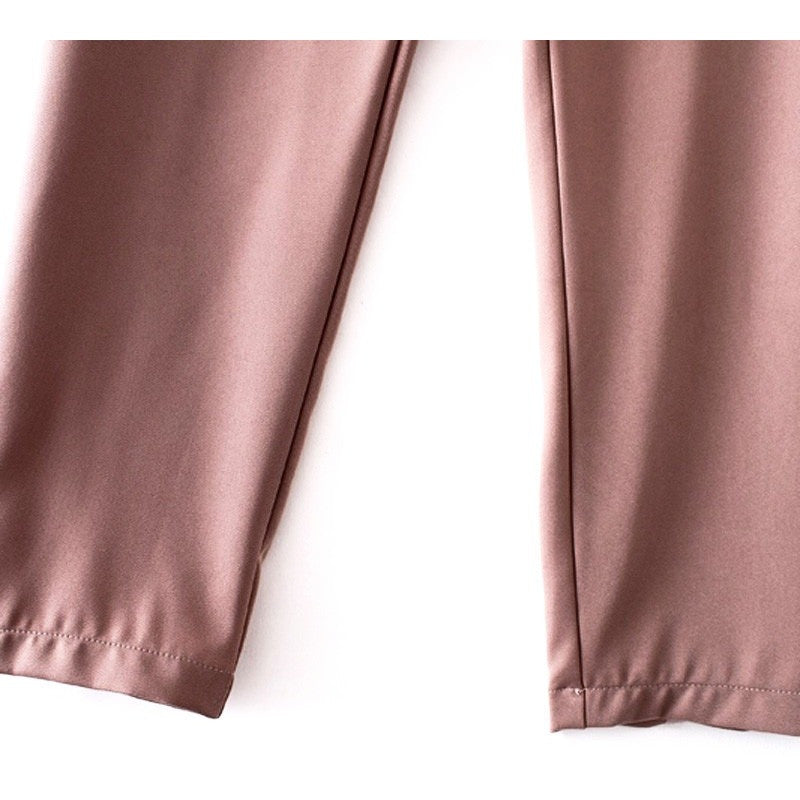 WEST NINETIES LUXE High Waist Bow Tie Chiffon Pants