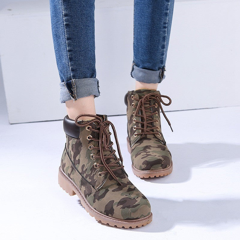 WEST NINETIES LUXE Army-Style Boots