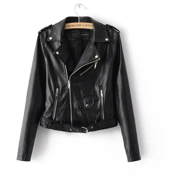 WEST NINETIES LUXE Faux Leather Biker Jacket