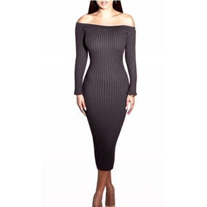 WEST NINETIES LUXE Slash Neck Dress