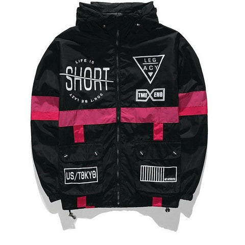 LIFE IS SHORT Windbreaker