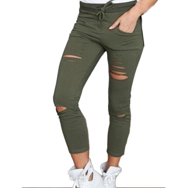WEST NINETIES LUXE Women's Ripped Joggers