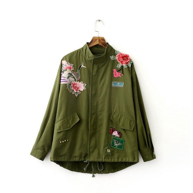 WEST NINETIES LUXE Embroidery Military Jacket