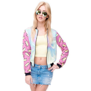 WEST NINETIES LUXE Crown Cloud Bomber Jacket