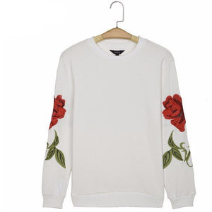 WEST NINETIES LUXE Floral Embroidery Pullover