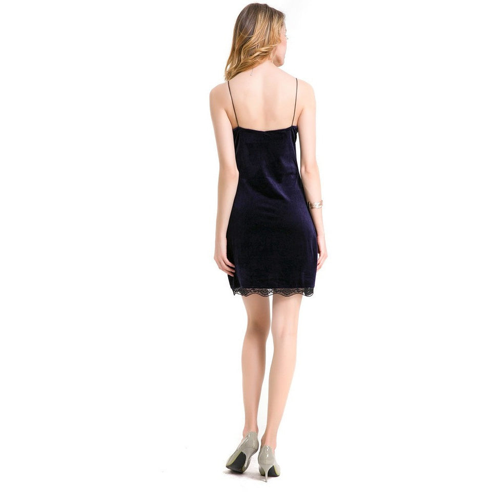 WEST NINETIES Spaghetti Strap Backless Dress