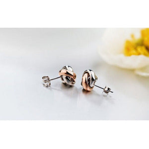 SA SILVERAGE 925 Sterling Silver & Rose Gold Jewelry Set