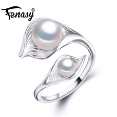 DOUBLE PEARL Adjustable Charm Ring - West Nineties
