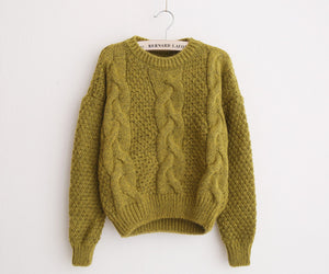Designer High Fashion Warm Mohair Sweater by HSA