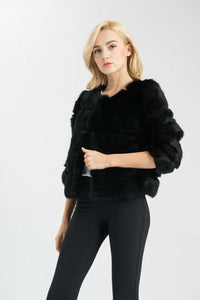 Designer Real Rabbit Fur Jacket by Jancoco