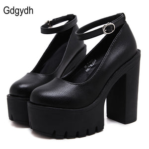 Chic Style Thick High Heel Pumps