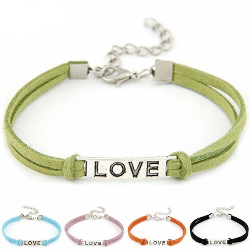 Adjustable handmade love bracelet Rope Charm for Women