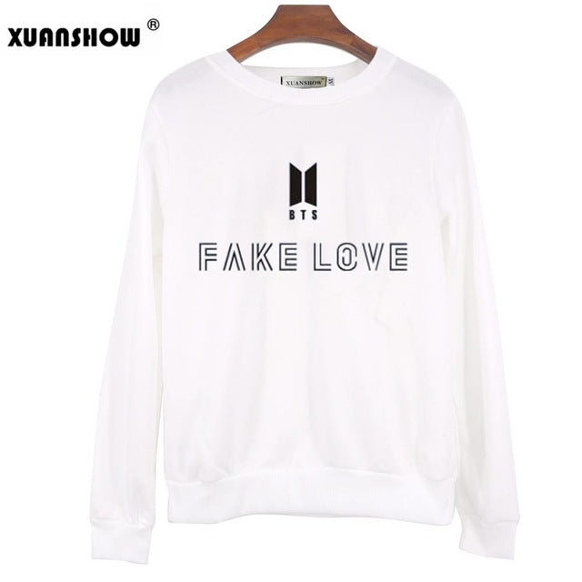 """Fake Love"" Trendy Sweatshirt"
