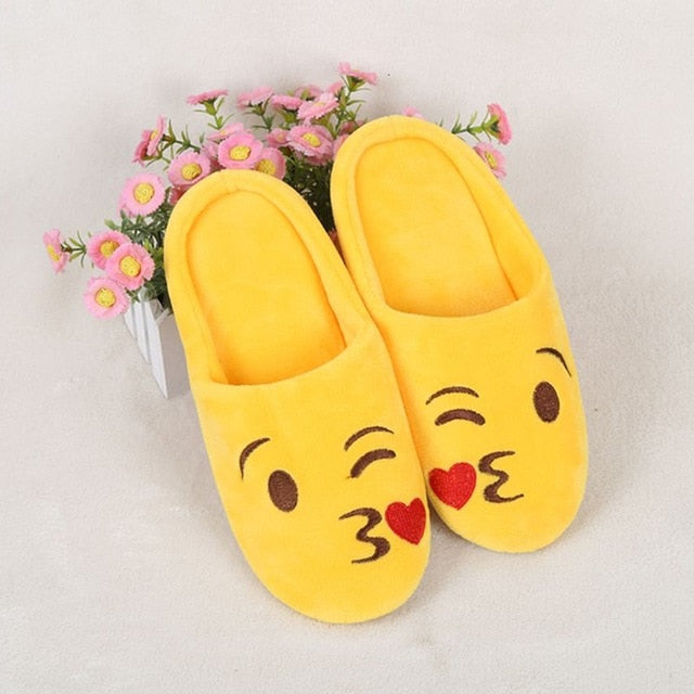 Cute Emoji Cotton Slip-On