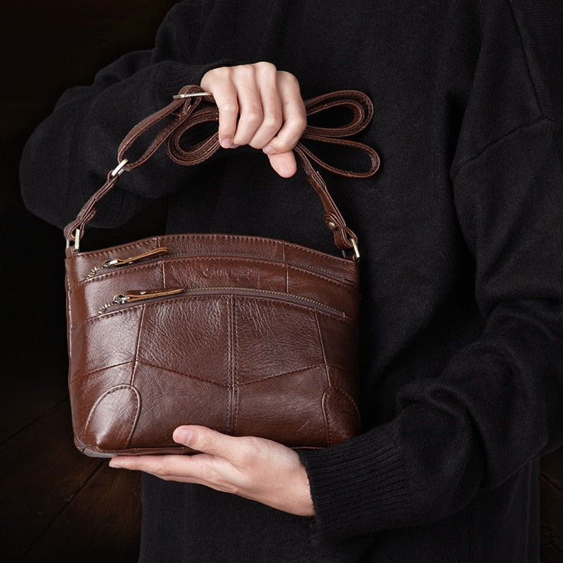 Genuine Leather Designer Shoulder Bag