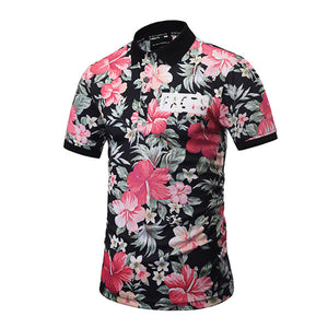 FLOWER Print Polo Shirt