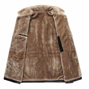 Tigliano Stylish Leather & Fur Coat