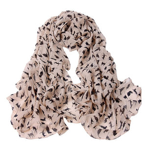 Cute Cat Print Scarf
