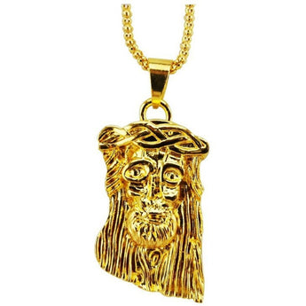 24K Gold Plated Jesus Piece with Chain - West Nineties