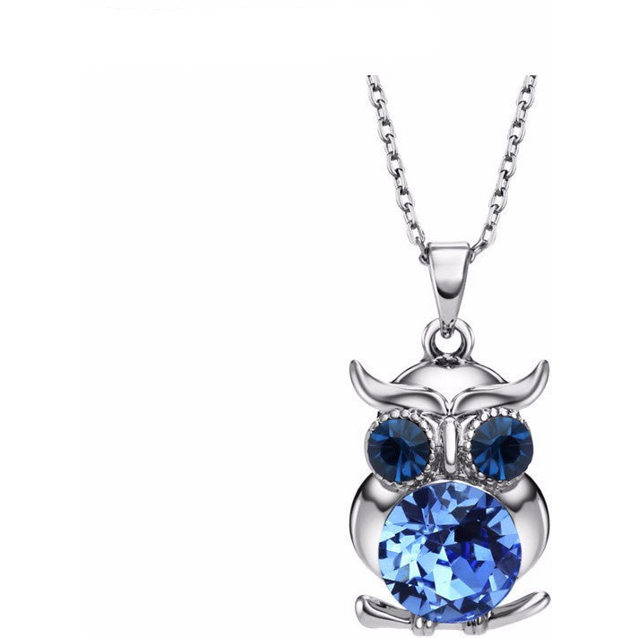 WEST NINETIES LUXE Austrian Crystal Owl Chain