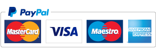We accept all major debit/credit cards including visa, mastercard & amex. Also Paypal