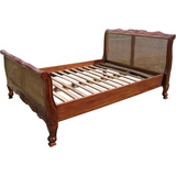 Louis Cane french rattan bed luxury