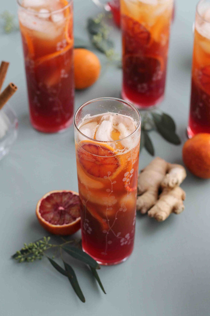 SPARKLING BLOOD ORANGE CHAI