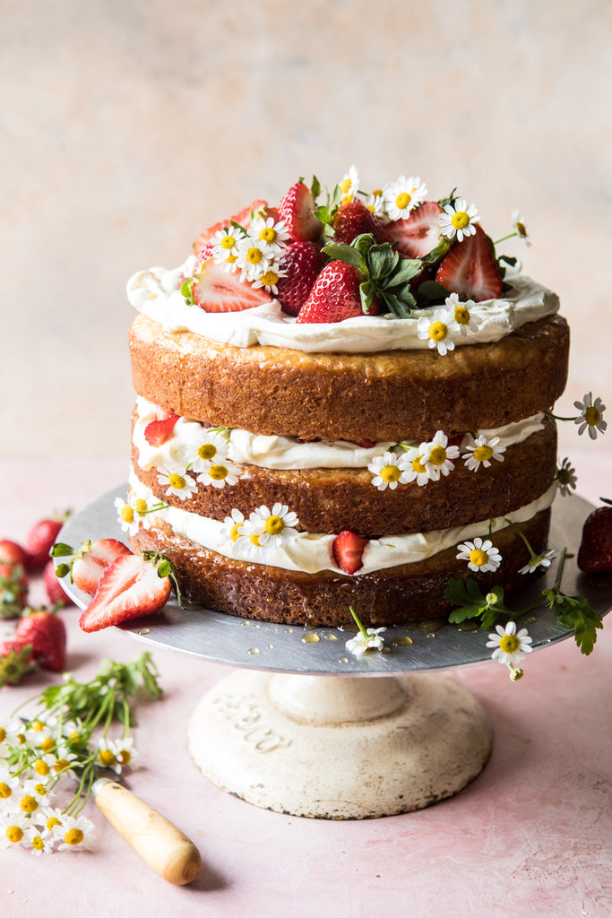 How to make strawberry chamomile tea cake