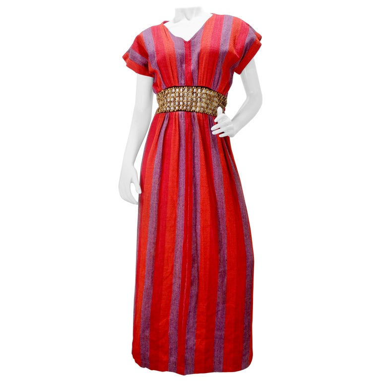Rikma Wooden Macrame Striped Dress