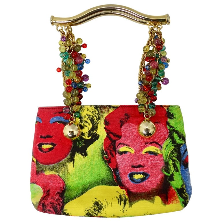 Gianni Versace Marilyn Monroe & James Dean Pop Art Bag