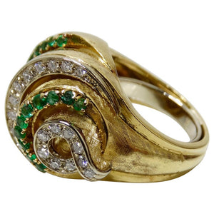 Emerald & Diamond Cocktail Ring