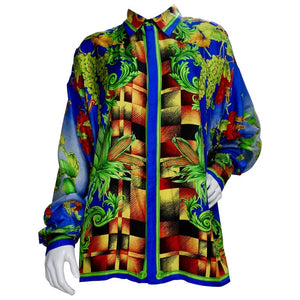 "Gianni Versace 1990s ""Autumn Nature"" Shirt"