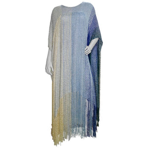 Crane Day Hand Weaver Ombre Cocktail Poncho