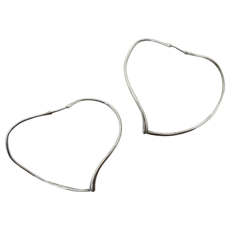 Tiffany & Co. Open Heart Hoop Earrings