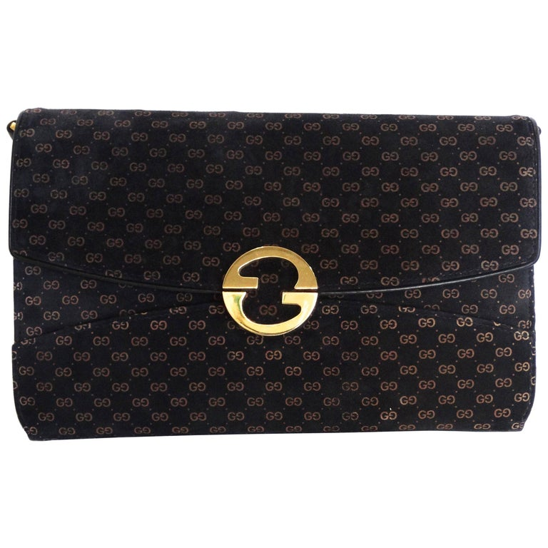 Gucci Velveteen Monogram Bag