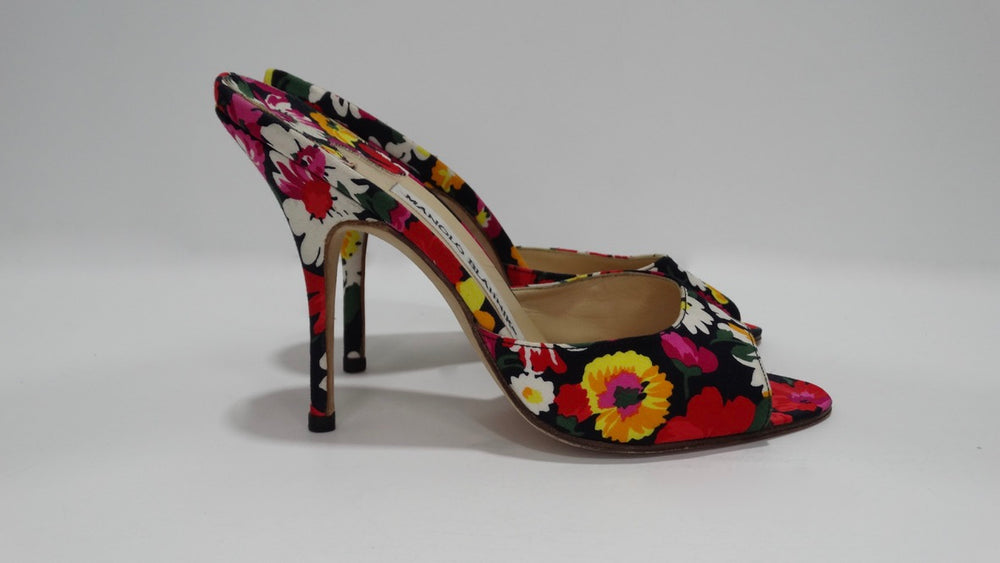 Manolo Blahnik Floral Pumps